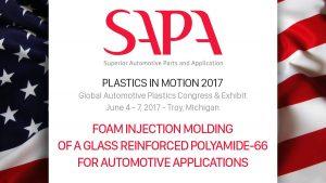 Oggi a Detroit, sul palco del Plastics in Motion - SAPA Superior Automotive Parts and Application
