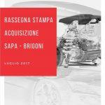 SAPA Press - Sulle maggiori testate economico finanziarie, l'acquisizione da parte di SAPA del 100% di Brigoni